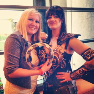 Jen and Fake Xena